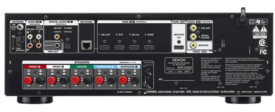 Denon AVR-E300 Back Panel
