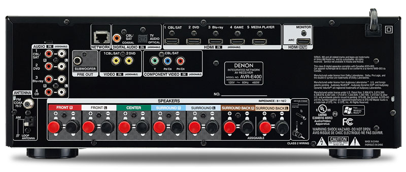 Denon AVR-E400 Back Panel