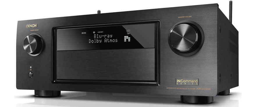 Denon AVR-X4100W with closed Front Panel