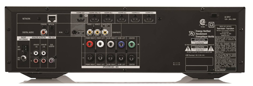 Harman Kardon AVR 1610 Back-Panel