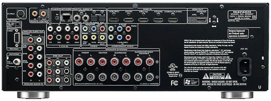 Marantz SR5007 Back Panel