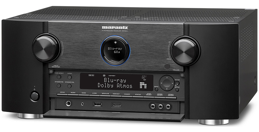 Marantz SR7011 with Open Front Panel