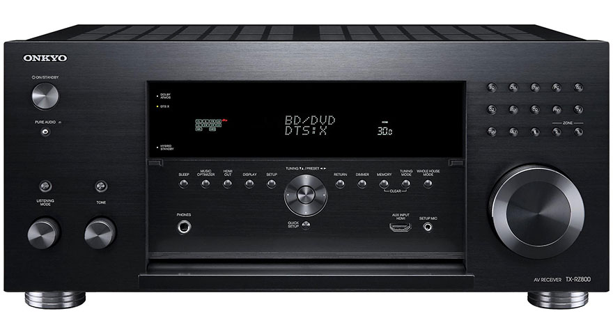 Onkyo TX-RZ800 with Front Panel Open