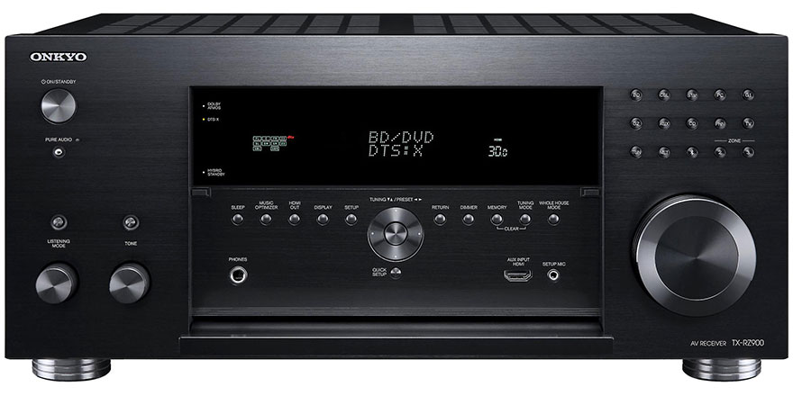 Onkyo TX-RZ900 with Front Panel Open