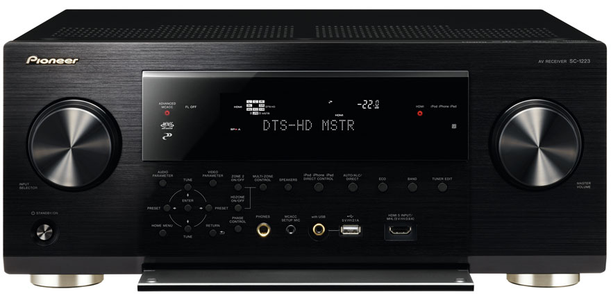Pioneer SC-1223-K With Open Front Panel
