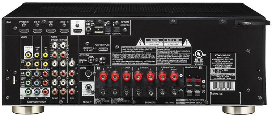 Pioneer VSX-921-K Back Panel