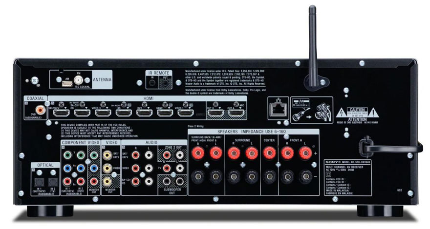 Sony STR-DN1040 Back Panel