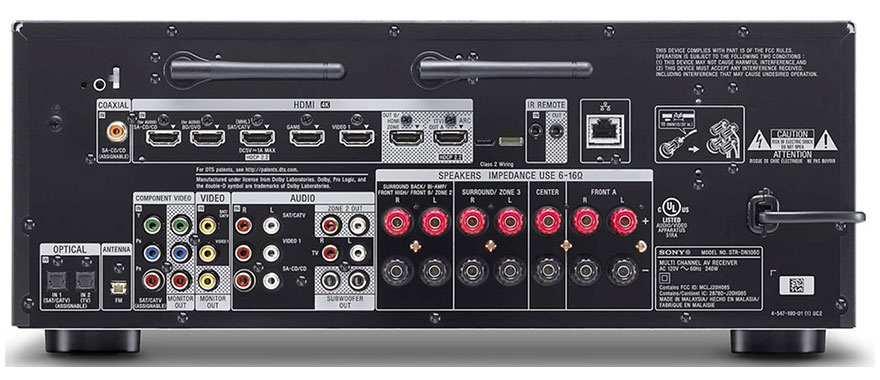 Sony STR-DN1060 Back Panel